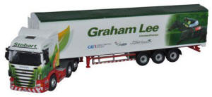 Oxford Diecast Scania Highline Walking Floor - Stobart Jockeys - Graham Lee - 76SHL10WF