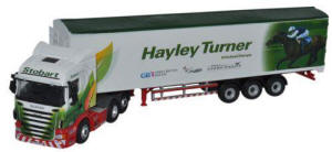 Oxford Diecast Scania Highline Walking Floor - Stobart Jockeys - Hayley Turner - 76SHL14WF