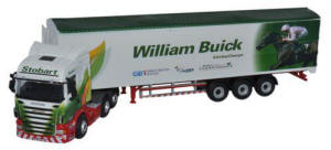 Oxford Diecast Scania Highline Walking Floor - Stobart Jockeys - William Buick - 76SHL15WF