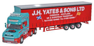 Oxford Diecast - Scania T Cab Topline Curtainside - J H Yates and Sons Ltd - 76TCAB003