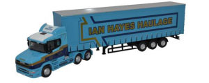 Oxford Diecast - Scania T Cab - Curtainside Ian Hayes - 76TCAB009