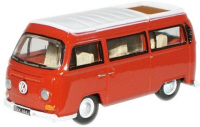 76VW004 - Oxford Diecast Senegal Red / White VW Camper