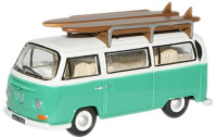 76VW007 - Oxford Diecast Birch Green / White VW Bus