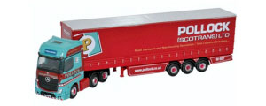 NMB002 - Oxford Diecast Mercedes Actros Curtainside Pollock