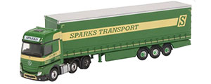 NMB006 - Oxford Diecast Mercedes Actros Curtainside -  Sparks Transport