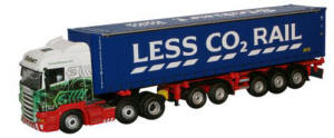 Oxford Diecast - Eddie Stobart Scania Highline Combi Trailer & Container - SHL01CT