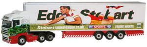 Oxford Diecast Scania Highline Stobart Super League - Catalan Dragons - SHL05FR