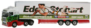 Oxford Diecast Scania Highline Stobart Super League - Bradford Bulls - SHL09FR