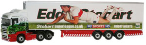 Oxford Diecast Scania Highline Stobart Super League - Hull Kingston Rovers - SHL10FR