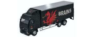 Oxford Diecast - Volvo FH Curtainside Lorry Brains - SP113