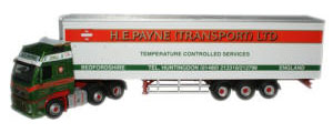 Oxford Diecast Volvo Refrigerated Trailer H E Payne - VOL01FR