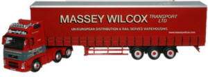 New Modellers Shop - Oxford Diecast - Massey Wilcox Volvo FH Curtainside - VOL03CS