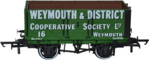 Oxford Rail - 7 Plank Mineral Wagon Weymouth & District Co-op No.16 - OR76MW7004
