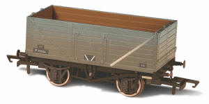 Oxford Rail - BR Grey - 7 Plank Mineral Wagon Weathered (P75934) - OR76MW7015