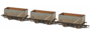 Oxford Rail - BR Grey 7 Plank Mineral Wagon - Pack of 3 (Weathered)(P75662/P98402/P162491) - OR76MW7016
