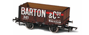 Oxford Rail - Barton and Co No. 321 - 7 Plank Mineral Wagon - OR76MW7020