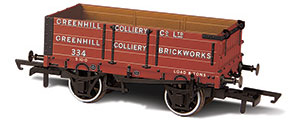 Oxford Rail - Greenhill Colliery No 334 - 4 Plank Wagon - OR76MW4007