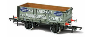 OR76MW4009 - Oxford Rail - Mount Sorrell Granite No.443 - 4 Plank Wagon