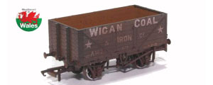 OR76MW7017W - Oxford Rail - Wigan Coal & Iron Co A147 - 7 Plank Mineral Wagon Weathered