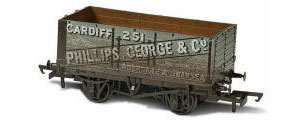 Oxford Rail - George & Co 251 - 7 Plank Mineral Wagon - OR76MW7019W (weathered)