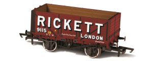 Oxford Rail - Rickett - 7 Plank Mineral Wagon - OR76MW7022