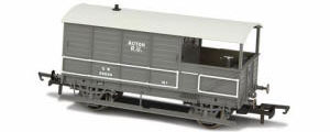 OR76TOB002 Oxford Rail - Toad Brake Van GWR 4 Wheel Plated (late) Acton 56034