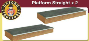 OS76R006 - Oxford Structures - Straight Platform x2