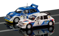 Scalextric - Classic Collection Peugeot 205 T16 E2 & MG Metro 6R4 - C3590A