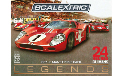 C3892A - Scalextric Ferrari and Ford GT MKIV Le Mans 1967 Triple Pack - Limited Edition
