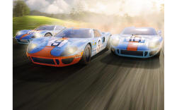 Scalextric Ford GT40 1968 � Gulf Triple Pack - Limited Edition - C3896A