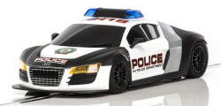 Scalextric Audi R8 Police Car - Black & White - C3932