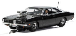 Scalextric Dodge Charger (gloss black) with blower - C3936