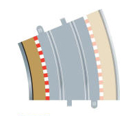 Model Shop - Scalextric C8282 radius 4 inner border and barrier 22.5 degree