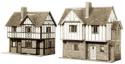 Superquick Model Card Kits - B28 Elizabethan Cottages