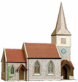 Superquick Model Card Kits - B29 Country Church