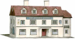 Superquick Model Card Kits - B33 The Railway Hotel