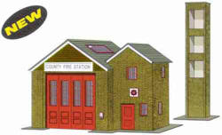 Superquick Model Card Kits - B36 Fire Station