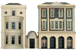 Superquick Model Card Kits - C4 Regency Period Shops and House