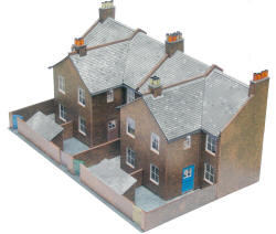 Superquick Model Card Kits - C5 Red Brick Terrace Backs