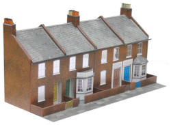 Superquick Model Card Kits - C6 Red Brick Terrace Fronts
