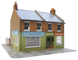 Superquick Model Card Kits - C7 Superquick Model Card Kits - C7 Red Brick Terrace Corner Shop