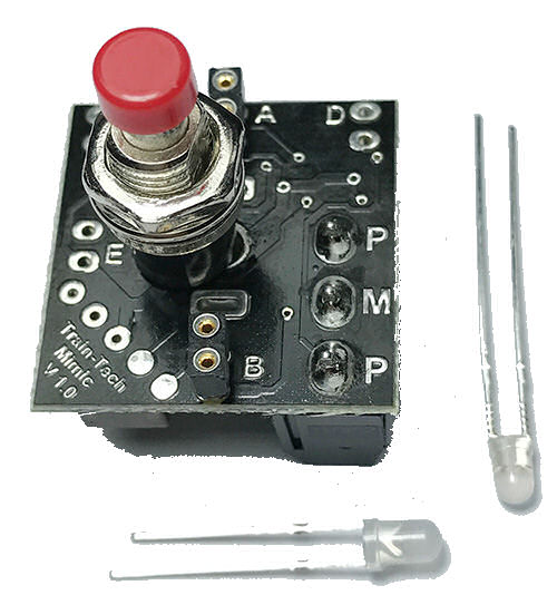 MS2 - Train-Tech - Mimic with Push Button Switch / Plug in LEDs